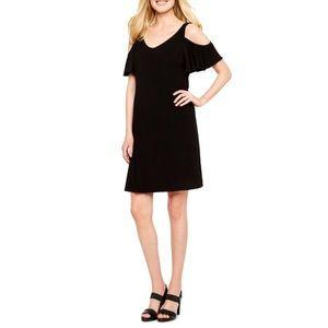 Flirty MSK Dress w/ Off-the-Shoulder Sleeves